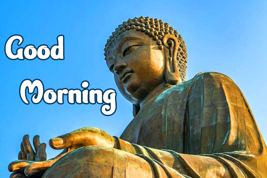 Statue of Buddha with Good Morning Wishing