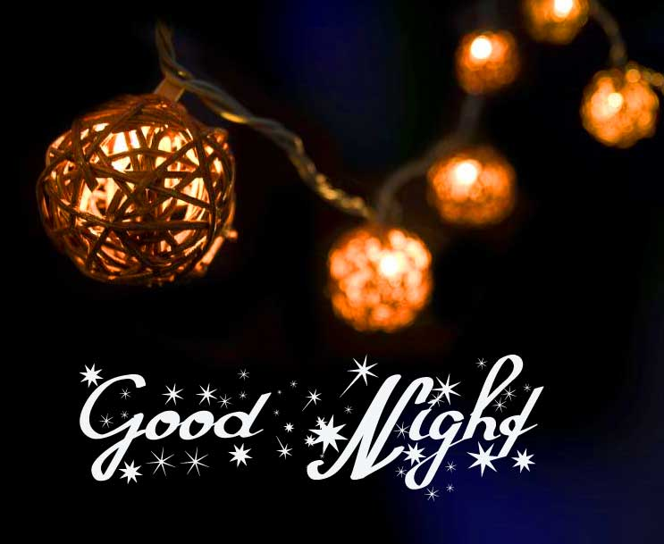 String Lights with Good Night Message
