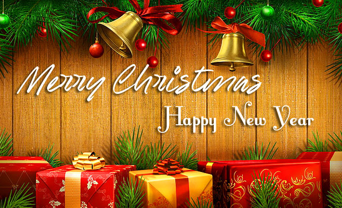 Sweet Merry Christmas and Happy New Year Wallpaper
