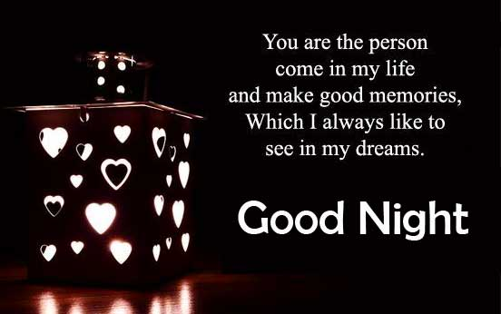 Sweet Quote with Good Night Wishing