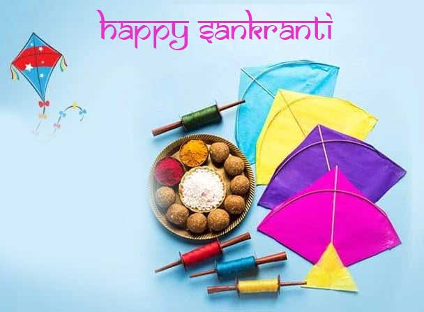 Sweets and Kites Happy Sankranti Image