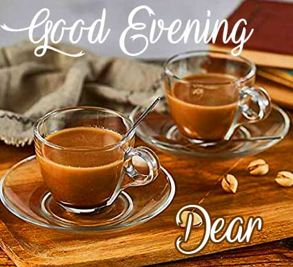 Tea Cups with Good Evening Wish