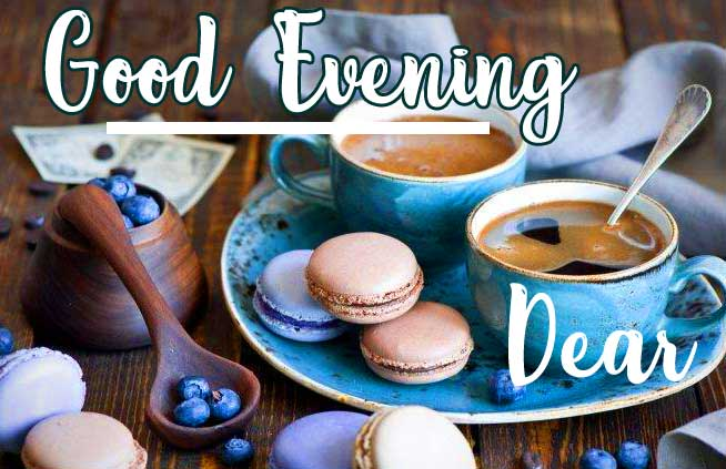 Tea with Macroons and Good Evening Wishing
