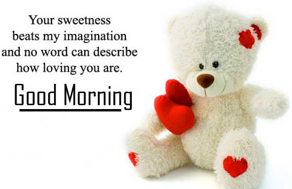 Teddy Bear Good Morning Wish with Quote
