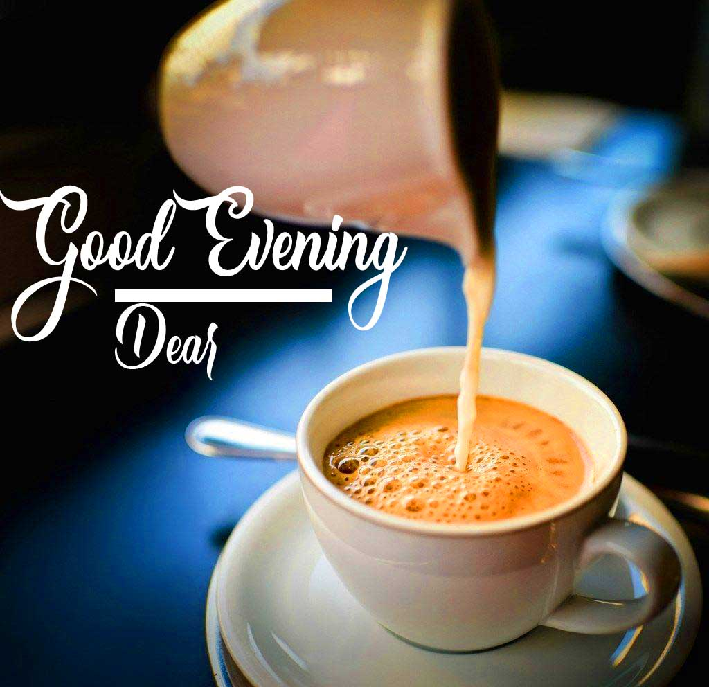 Thick Chai with Good Evening Wishing Image