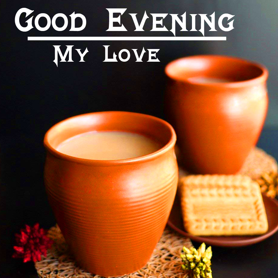 Traditional Chai with Good Evening Wishing
