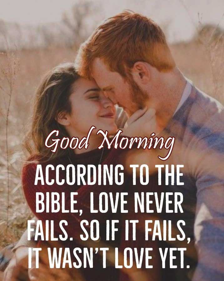 True Love Couple with Good Morning Wishing