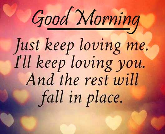 True Love Message with Good Morning Wishing