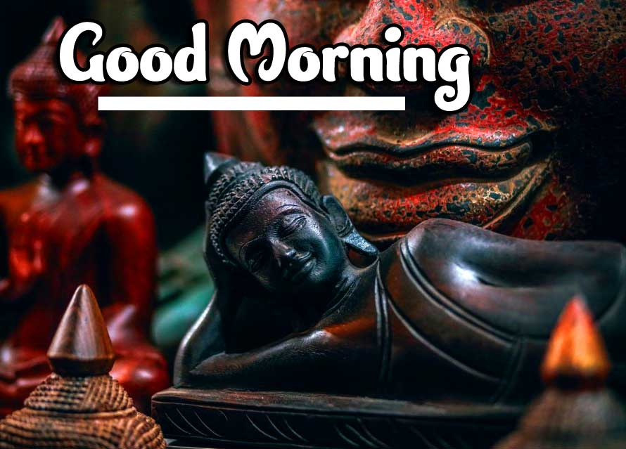 Wooden Buddha with Good Morning Message