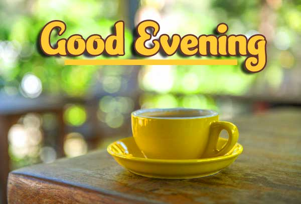Yellow Cup with Good Evening Wish