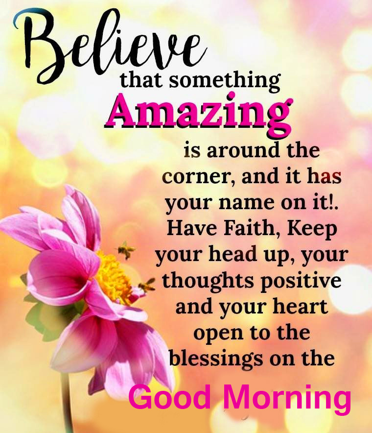 Amazing Blessing Quote with Good Morning Wish