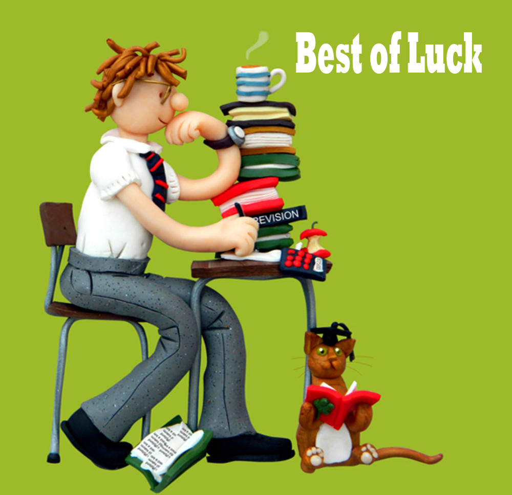 Animated Exam Best of Luck Image