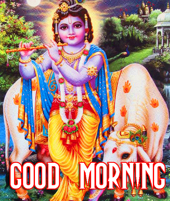 Bal Shri Krishna Good Morning Image