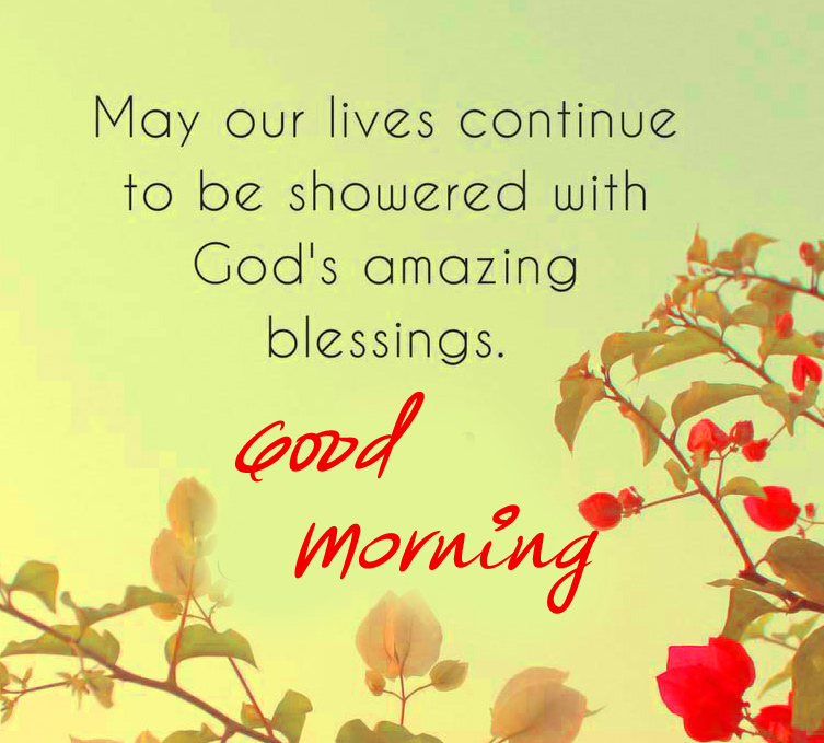 Beautiful Blessing Quotes Good Morning Image