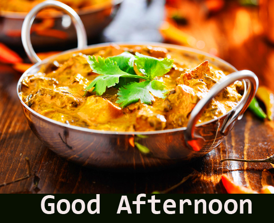 Beautiful Curry with Good Afternoon Wish