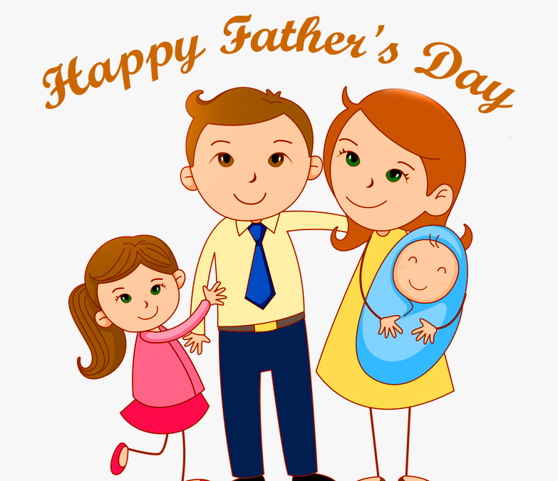 Beautiful Family with Happy Fathers Day Wish