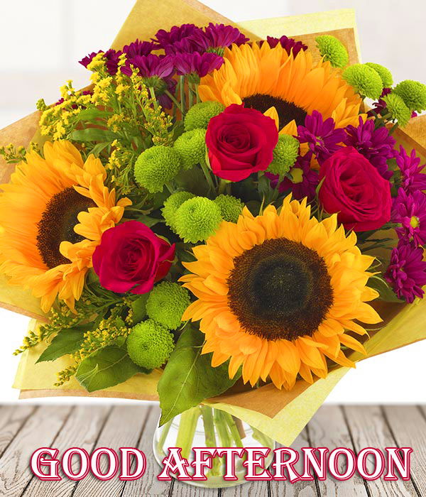 Beautiful Flowers Bouquet Good Afternoon Image
