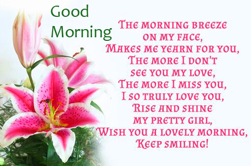 Beautiful Flowers with Quotes and Good Morning Wish