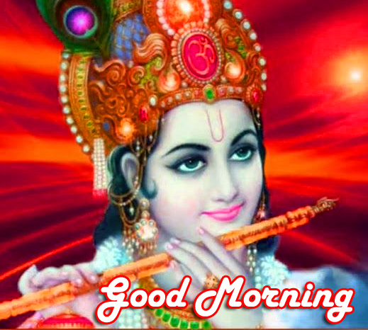 Beautiful Krishna Good Morning Image