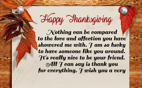 Beautiful Quotes Happy Thanksgiving Wallpaper