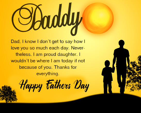 Beautiful Quotes with Happy Fathers Day Wish