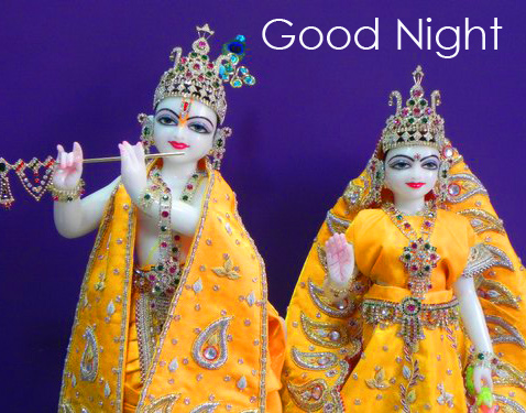 Beautiful Radha and Krishna Good Night Image