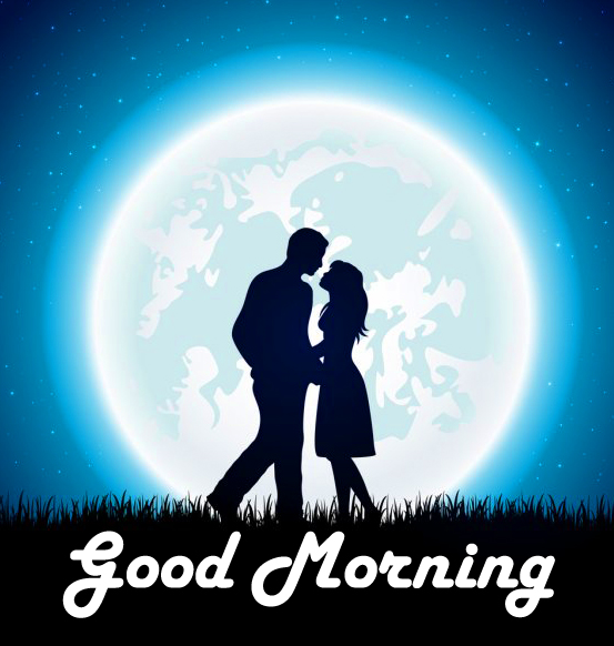 Beautiful and Romantic Couple Good Morning Image