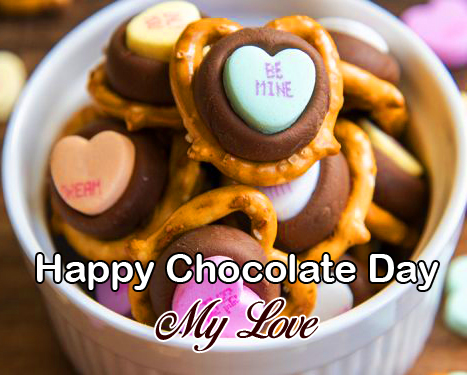 Best Happy Chocolate Day My Love with Colourful Chcolates