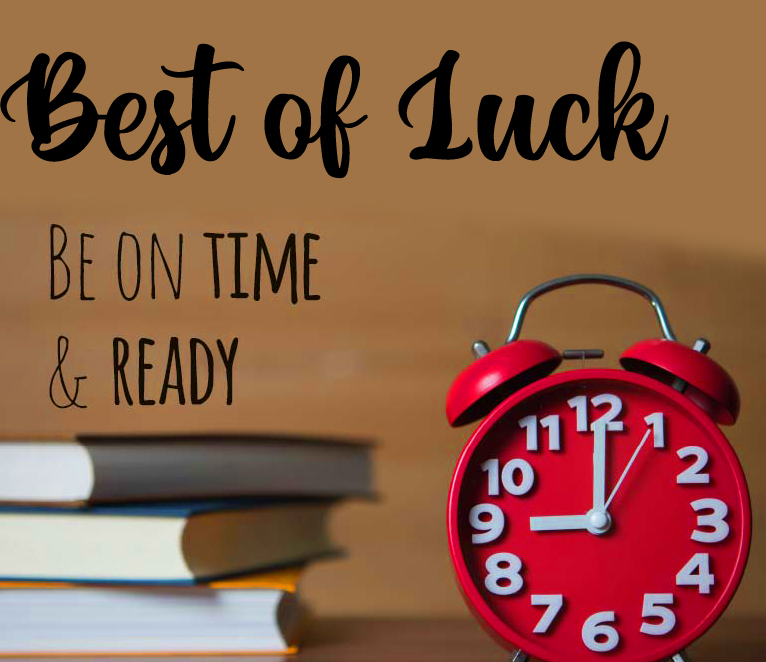 Best of Luck Exams Picture