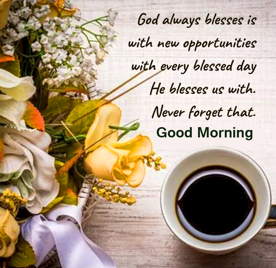 Blessful Good Morning Image with Coffee
