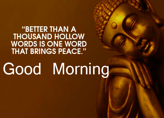 Buddha Good Morning Image with Quotes