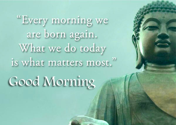 Buddha Quotes with Good Morning Wish