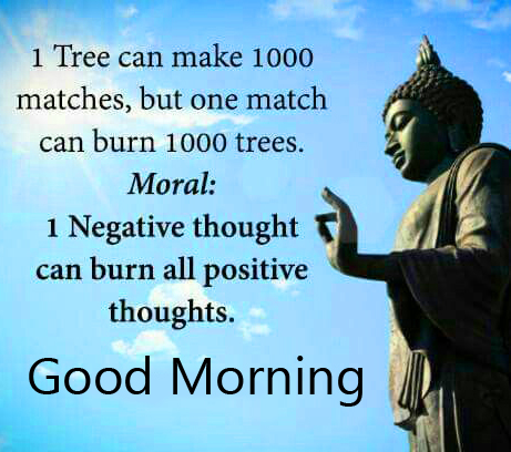 Buddha Quotes with Good Morning Wish HD