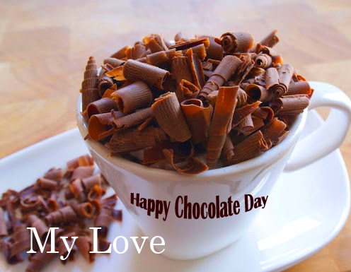 Chocolate Cup with Happy Chocolate Day My Love