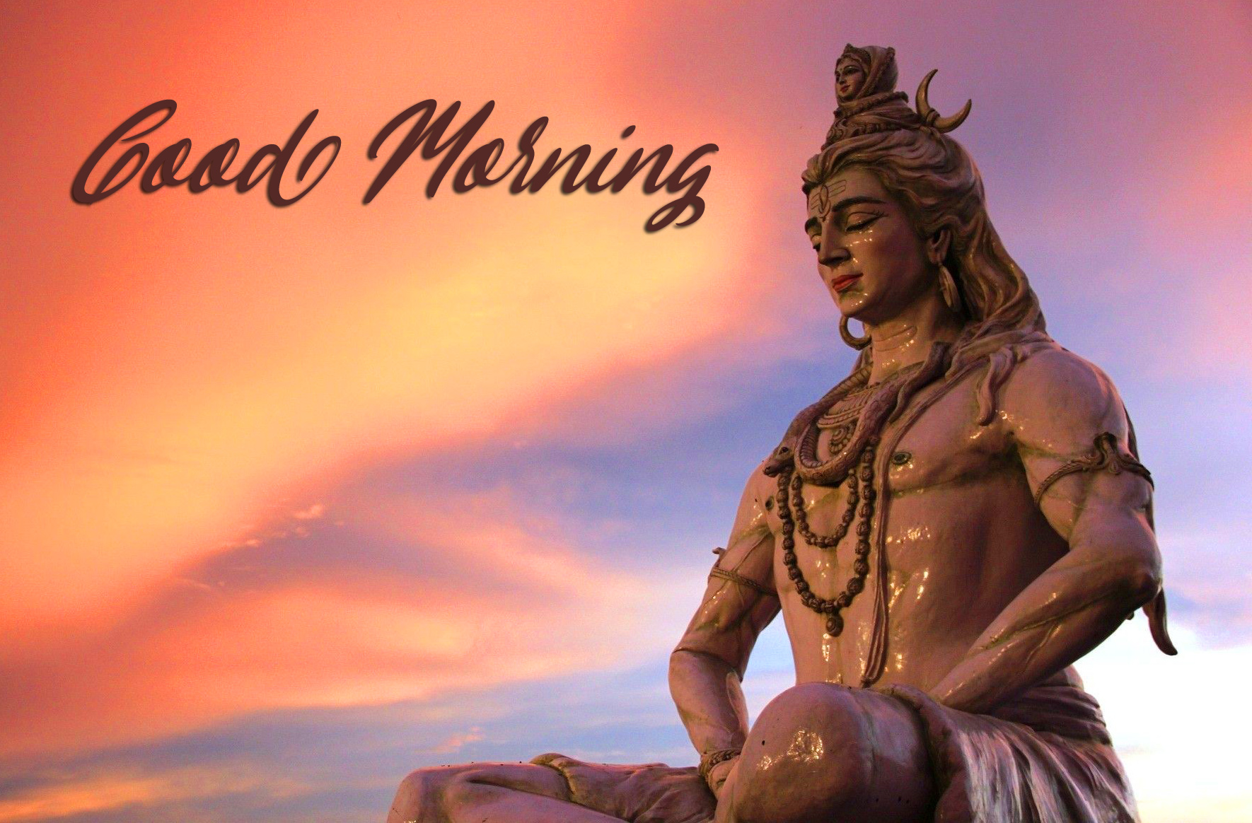 Clear Sky with Mahadev and Good Morning Wish