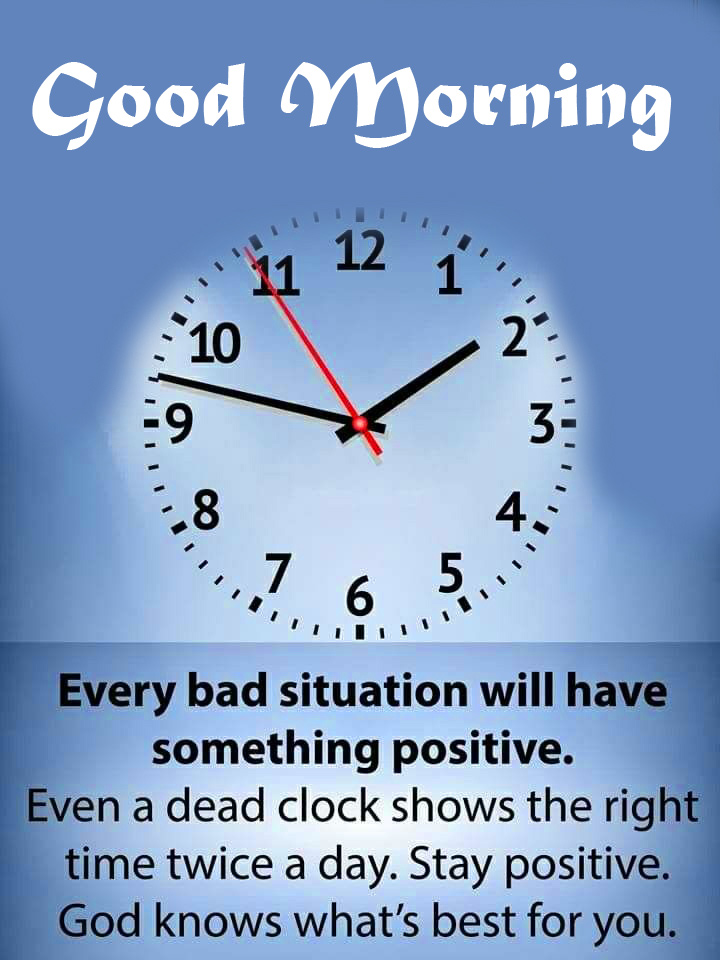 Clock Good Morning Quote Pic