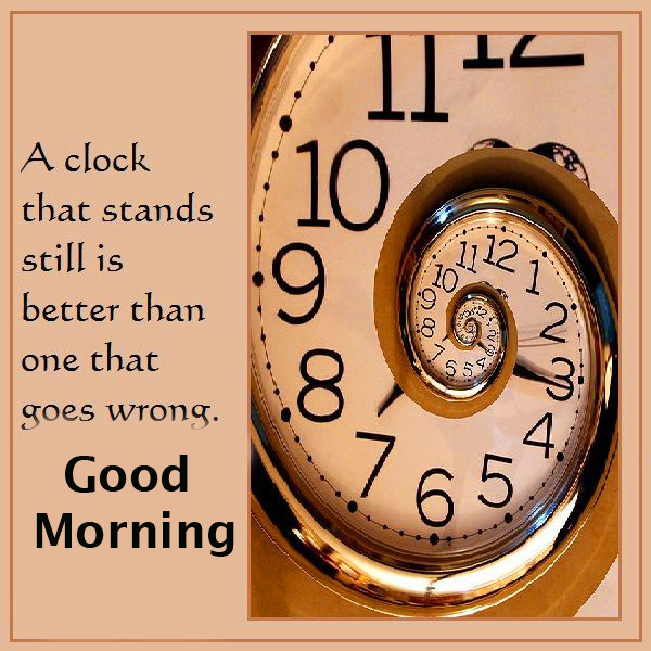 Clock Quotes Good Morning Image