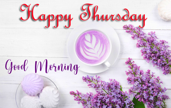Coffee Cup with Good Morning Happy Thursday Wish