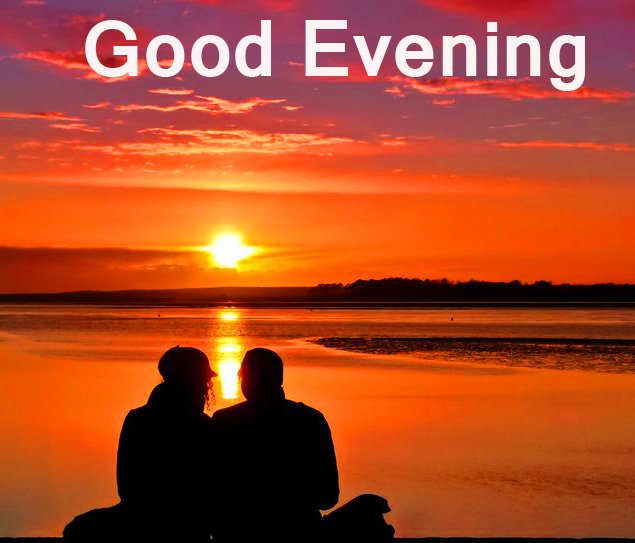 Couple in Sunset with Good Evening Wish