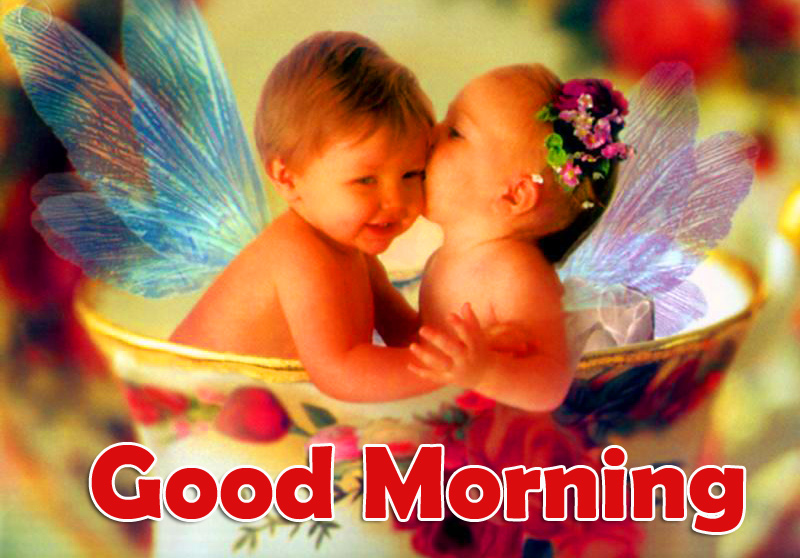 Cute Baby Couple Good Morning Pic