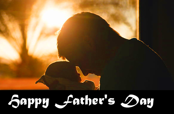 Cute Baby and Dad Happy Fathers Day Image