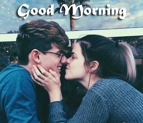 Cute Couple Good morning Image