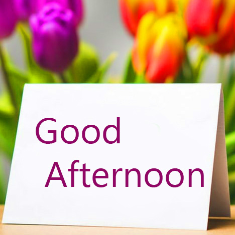 Cute Good Afternoon Card with Flowers