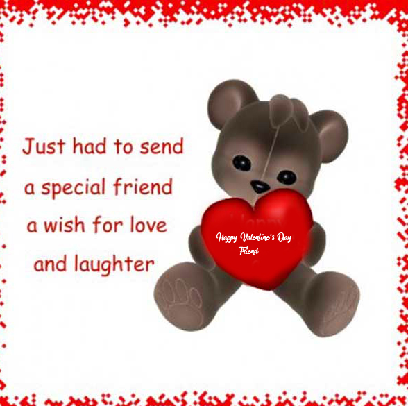 Cute Happy Valentines Day Friend Image