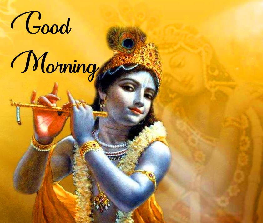 Cute Krishna Good Morning Image