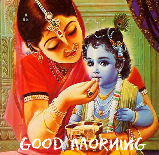 Cute and Adorable Krishna Good Morning Image