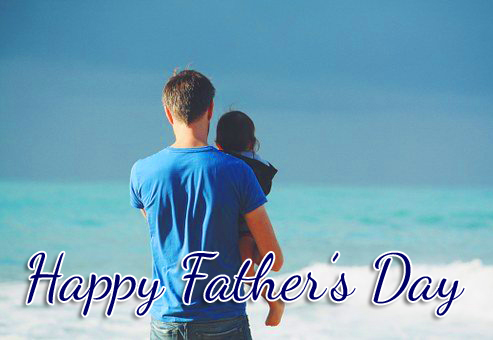 Dad Photo with Happy Fathers Day Wish