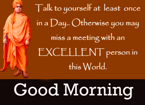 Excellent Vivekananda Quotes Good Morning Image
