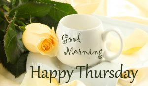 Flower Cup Good Morning Happy Thursday Image