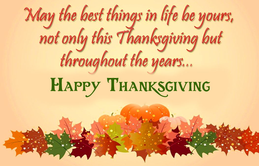 Flower Images with Happy Thanksgiving message